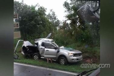 Acidente envolvendo três veículos deixa três mortos na BR-277, em Guarapuava
