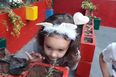 Crianças da Escola Municipal Jardim Birigui ganham 'Jardim Sensorial'