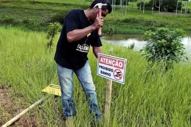 Represa de Maria Helena recebe sinalização proibitiva para banhos