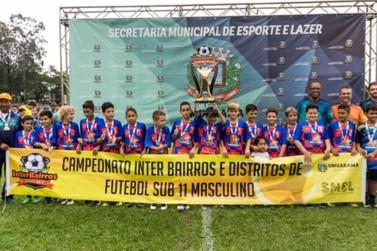 Vai começar o primeiro evento esportivo do ano: o Interbairros Sub 11 de Futebol