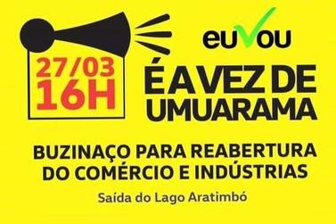 Postagem conclama moradores de Umuarama a participar de buzinaço nesta sexta