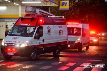 Viaturas com sirenes ligadas anunciam toque de recolher em Douradina