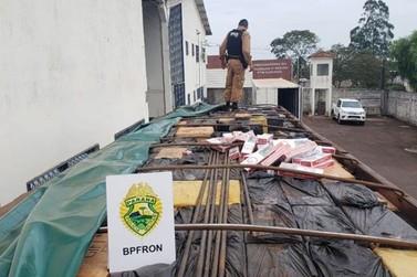 BPFron apreende caminhões com cargas de cigarros avaliadas em R$ 4,7 milhões