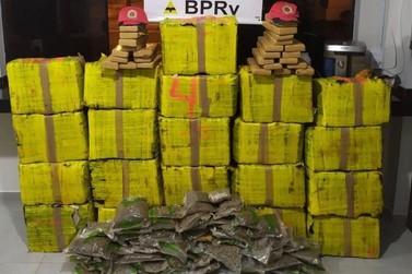 Mais de meia tonelada de maconha avaliada em R$ 1 milhão é apreendida na PR-323