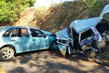 Colisão com três veículos deixa uma pessoa em estado grave em Moreira Sales