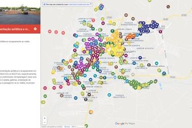 Mapa atualizado em tempo real mostra obras e aquisições de Umuarama desde 2017