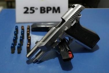 Polícia Militar apreende pistola e prende homem por posse ilegal em Santa Elisa