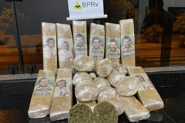 Passageira é presa transportando droga com foto de Pablo Escobar na PR-323