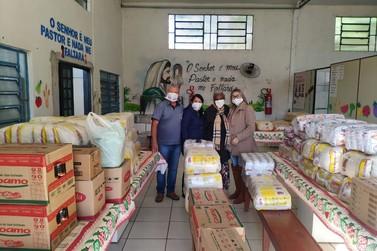 Associação Vida e Solidariedade recebe cerca de 1,5 tonelada de alimentos