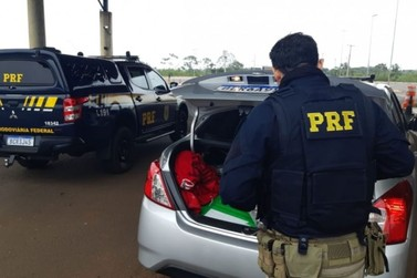 Homem é preso pela PRF com mais de 150 quilos de maconha em Guaíra