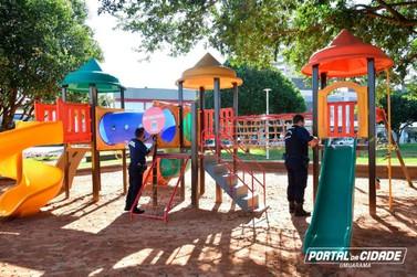 Pandemia de covid provoca a interdição de praças e parques infantis de Umuarama