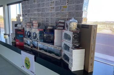 Polícia apreende carga de eletrônicos avaliada em R$ 45 mil na PR-323, em Iporã