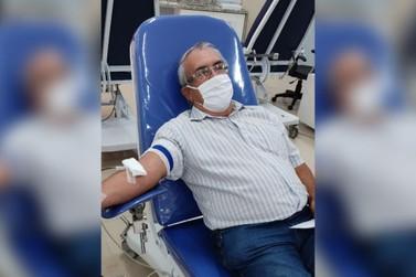 Após mais de 80 doações de sangue, idoso realiza sua última em Umuarama