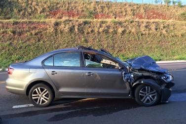 Idoso morre após ser atropelado por carro na BR-487, em Cruzeiro do Oeste