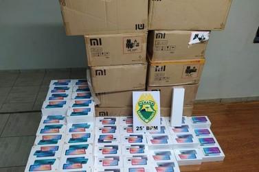 Mais de 330 celulares são apreendidos pela Polícia Militar em Iporã