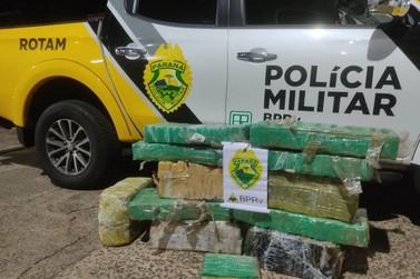 Rotam da PRE apreende quase 160 kg de maconha na PR-323, em Perobal