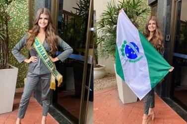 Umuaramense Eduarda Crevelaro concorre ao título de Miss Brasil Teen nesta terça