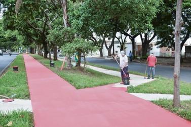 Ciclovia da Avenida Rio Grande do Norte, em Umuarama, recebe pintura