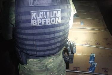 Policiais do BPFron apreendem cigarros contrabandeados em Assis Chateaubriand
