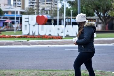Com chegada de frio intenso, Umuarama amanhece com temperatura de 2°C