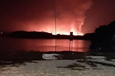 Publicações registram suposto incêndio no Parque Nacional de Ilha Grande