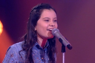 Cantora mirim Maria Victória representa Alto Piquiri na final do The Voice Kids