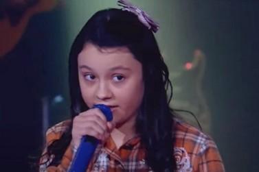 De Alto Piquiri, Maria Victória passa para próxima fase do The Voice Kids