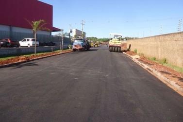 Pavimentação praticamente concluída no Parque Industrial de Umuarama