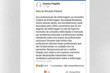 Médico de Toledo faz comentário ofensivo contra enfermeiros na internet