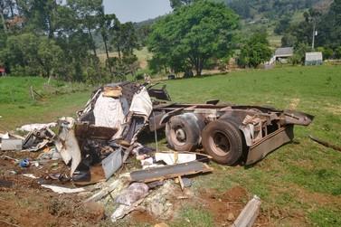 Acidente fatal na rodovia SC 150