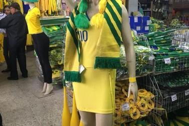Aumenta em Volta Redonda a venda de artigos para jogos da Copa do Mundo