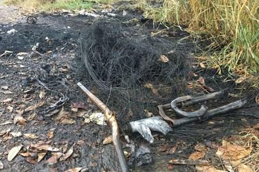 Corpo carbonizado é encontrado na zona rural de Resende