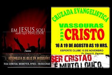 Amanhã terá início mais uma Cruzada Evangelística Vassouras para Cristo