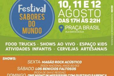 Festival 'Sabores do Mundo' leva gastronomia internacional a Volta Redonda
