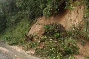 Chuva dos últimos dias aumenta estragos na estrada Paraty-Cunha