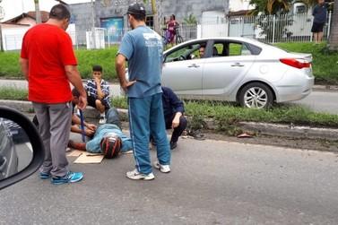 Motociclista de 47 anos fica ferido em acidente no Conforto, em Volta Redonda