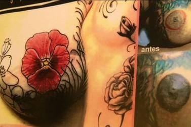 Projeto oferece tatuagens gratuitas para mulheres que fizeram mastectomia