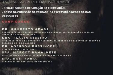 Escravidão negra no Brasil é tema de seminário nesta terça-feira em Vassouras