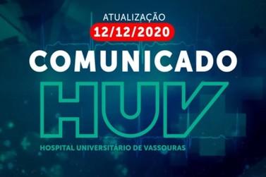 Hospital Universitário de Vassouras faz comunicado importante sobre a Covid-19