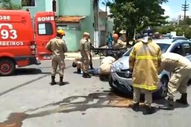 Acidente deixa ferido no bairro Vila Julieta, em Resende, no Sul do Rio