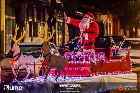 Chegada do Papai Noel em Douradina - 2019