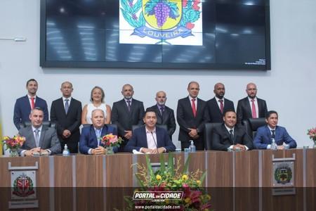 Cerimônia de Possi dos Vereadores, Prefeito e Vice prefeito da Cidade de Louveira