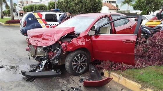 Colisão Lucas do Rio Verde: Veículos se envolvem em acidente e dois ficam feridos 16/11 - ® Portal da Cidade | Lucas do Rio Verde